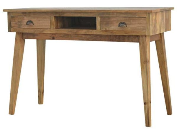 Two Drawer Open Slot Writing Desk