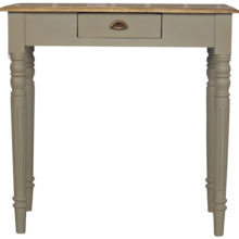 1 Drawer French Style Flute Legs Writing Desk