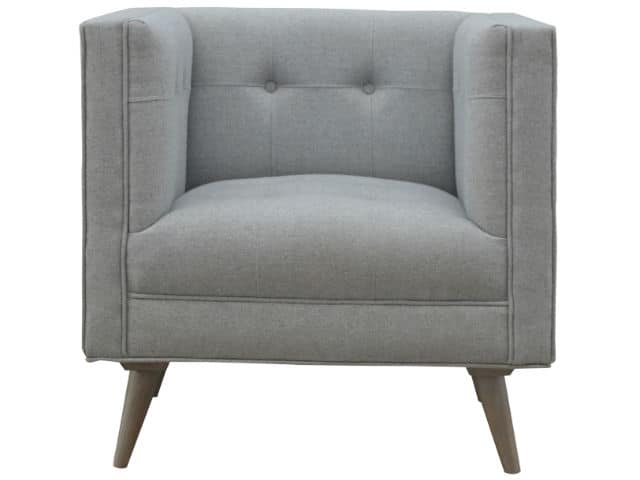 Grey Tweed Scandinavian Style Armchair
