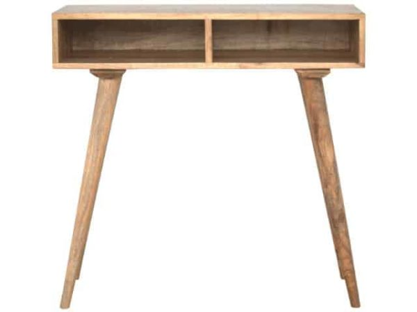 Nordic Writing Desk Solid Wood Open Slots