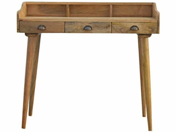 Solid Wood 3 Drawer Nordic Writing Desk