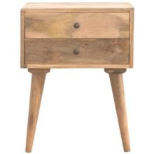 Scandinavian 2 Drawer Bedside Table