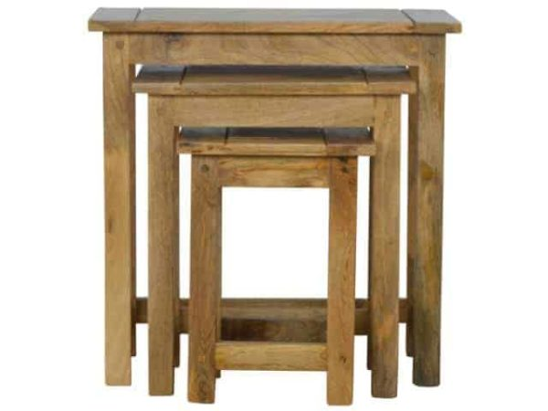 Country Style Solid Wood Kitchen Stools Set of 3