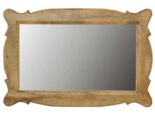 Hand-Carved Wooden Frame Mirror