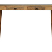 Nordic Wooden Writing Desk with 2 Drawers
