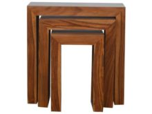 Sheesham Wood Cube Nesting Tables Set of 3