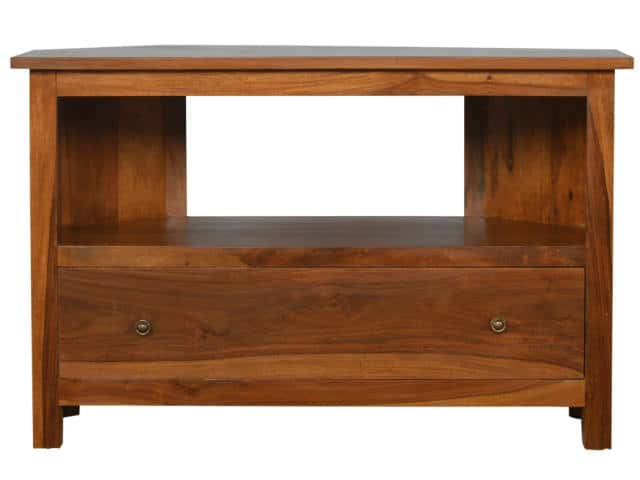 Solid timber Corner TV Unit