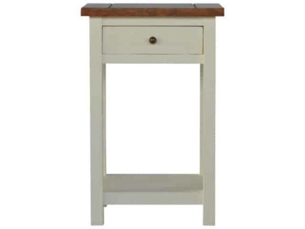 Two Tone 1 Drawer & 1 Shelf Painted Bedside Table