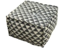 Durry Style Geometric Pouffe