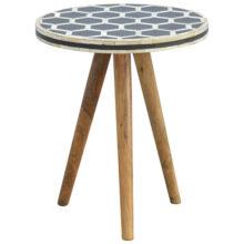 Tripod Bone Inlay Stool Table