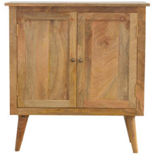 Solid Wood 2 Door Nordic Style Cabinet