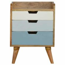 Nordic style Hand Painted 3 Drawer Bedside Table