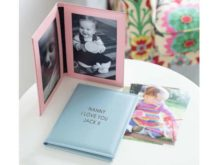 Personalised Leather Photo Frame Book