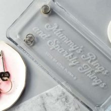 Personalised Glass Jewellery Tray
