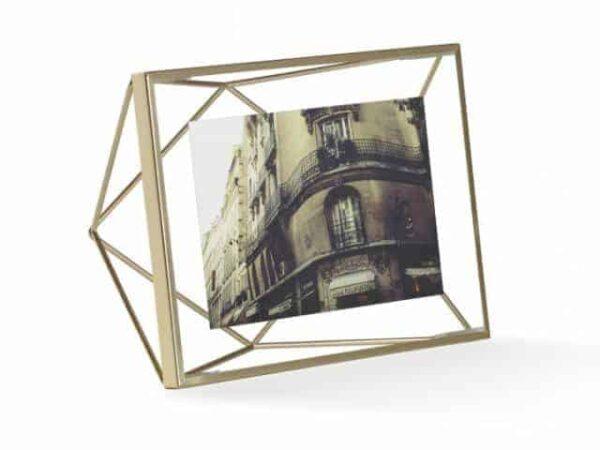 Umbra Prisma Matte Brass Photo Display 4x6 10x15cm