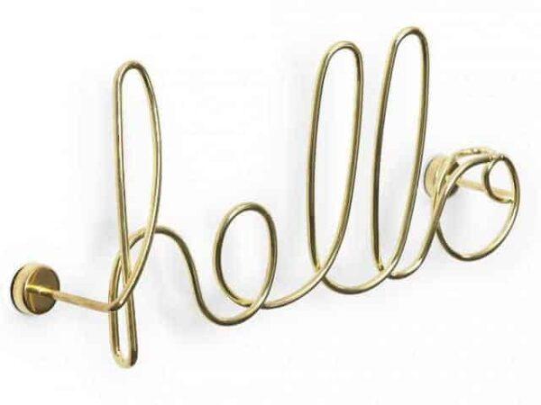 Umbra Brass Wired Hello Wall Art