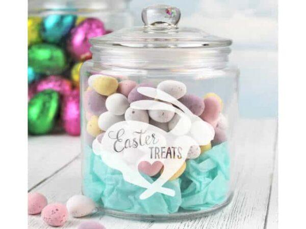 Easter Treats Storage Glass Jar