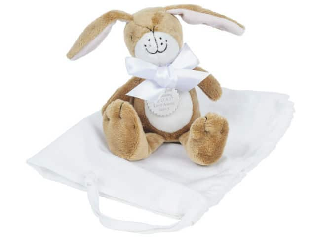 Personalised Nutbrown Hare Soft Toy Large Christening