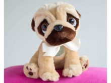 Personalised Pugsley the Pug Soft Toy