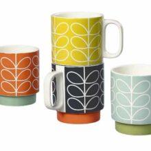 Orla Kiely Linear Stem Stacking Mugs Set