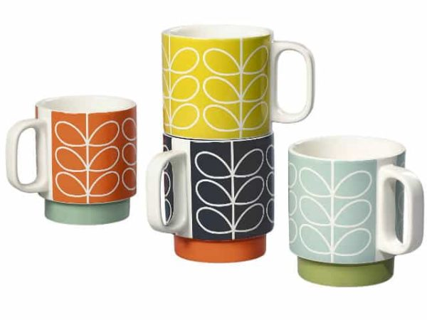Orla Kiely Linear Stem Stacking Mugs Set