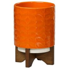 Orla Kiely Ceramic Plant Pot Poppy Angled