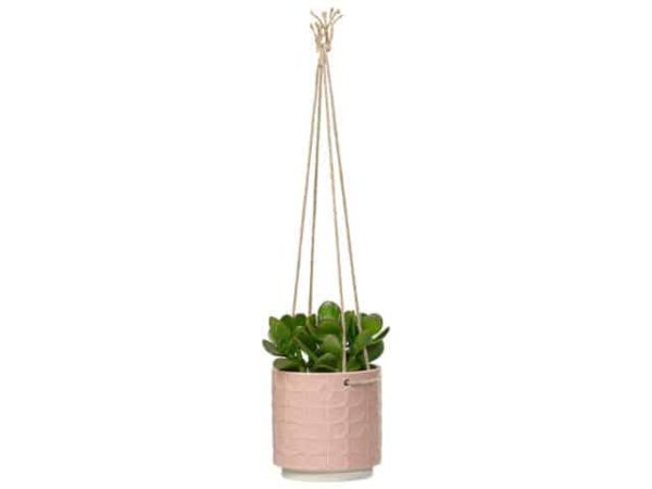 Orla Kiely Medium Ceramic Hanging Plant Pot Rose