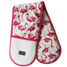 Sara Miller Double Oven Glove Flamingo Repeat