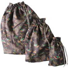 Sara Miller Silk Swan Travel Bag Set