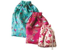 Sara Miller Silk Travel Bag Set of 3