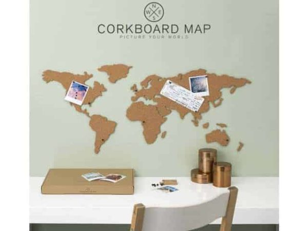 Luckies of London Corkboard World Map