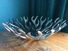 Aluminium Flame Bowl Centrepiece