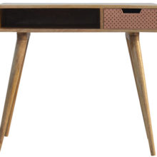 Nordic Style Perforated Copper Writing Desk