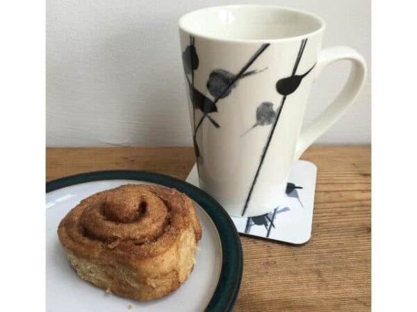 Sandra Vick Longtailed Tits China Latte Mug