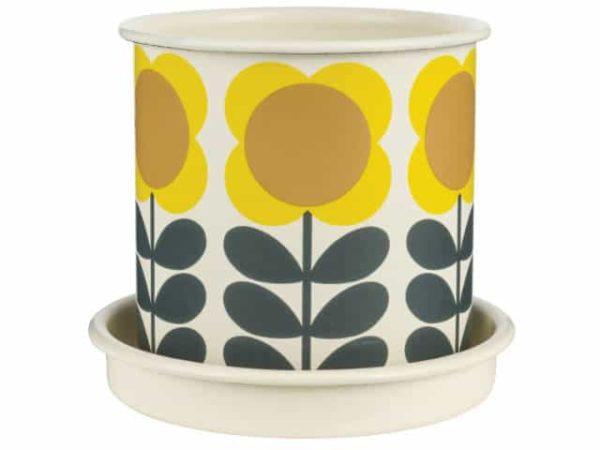 Orla Kiely Medium Big Spot Flower Plant Pot