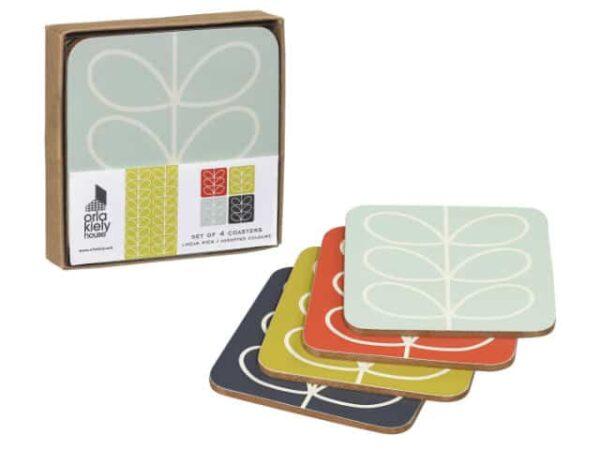 Orla Kiely Coasters Linear Stem Main