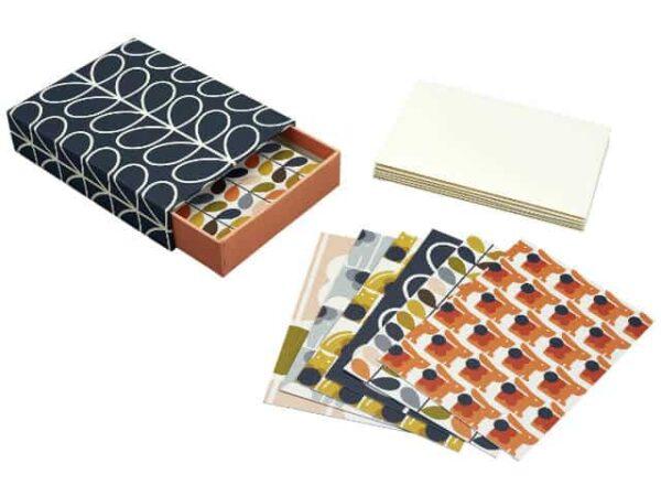 Orla Kiely Postcard Set with Envelopes