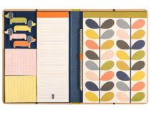 Orla Kiely Sketchbook and Sticky Notes Set Open