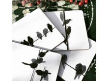 Sandra Vick Bird Placemats, Set of 4 Assorted