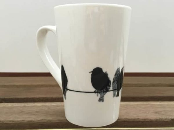 Sandra Vick Starlings China Latte Mug