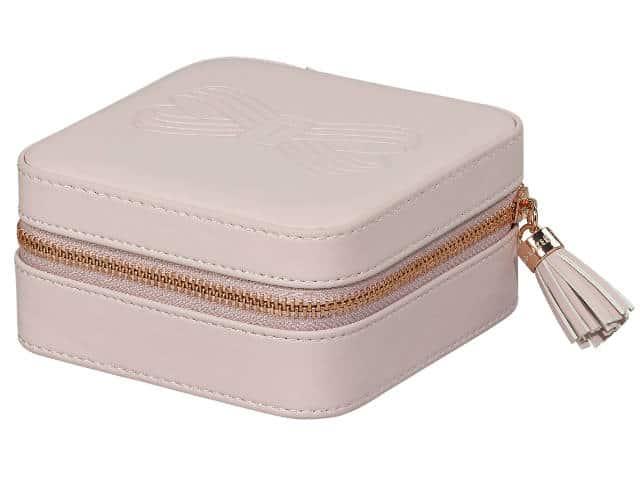 Ted Baker Zipped Jewellery Case Pink Travel Jewellery Box Jewel Case