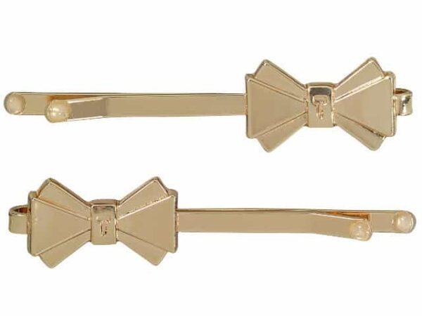 Ted Baker Rose Gold Bow Hair Slides