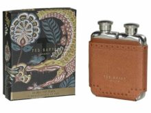 Ted Baker Brown Brogue Double Hip Flask
