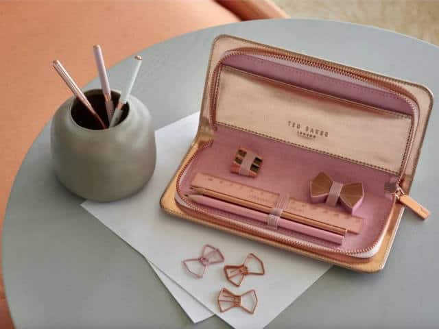 half off ae7e2 6eee3 Rose Gold Pencil Case | Ted Baker Stationery | Ted Baker Rose Gold Gift