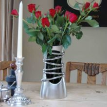 Katigi Designs Brushed Aluminium Flower Vase
