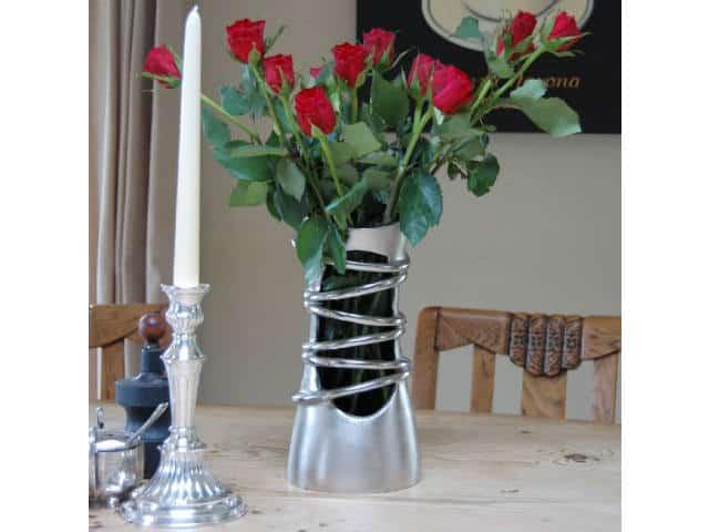 Brushed Aluminium Flower Vase Katigi Designs Vase Urban Cuckoo