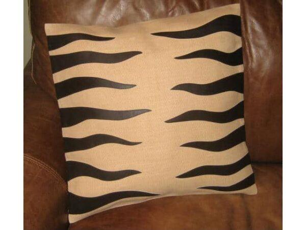 Katigi Designs Jute and Leather Cushion Cover