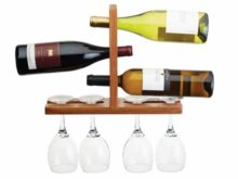 Wall Mounted Wine Glass and Bottle Rack