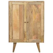 Solid Wood Wine Utility Storage Cabinet