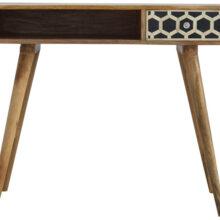 Wooden Bone Inlay Writing Desk